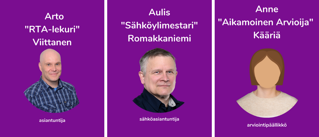 Arto Viittanen, Aulis Romakkaniemi, Anne Kääriä
