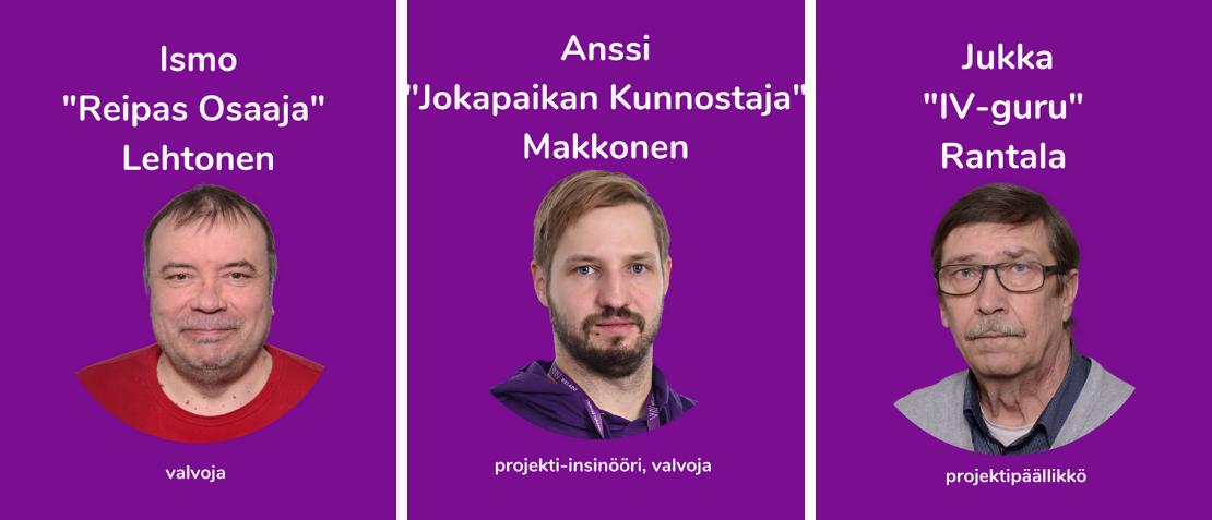 Ismo Lehtonen, Anssi Makkonen, Jukka Rantala